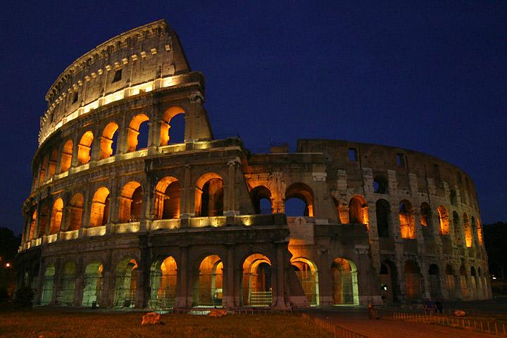 Roman Colosseum night