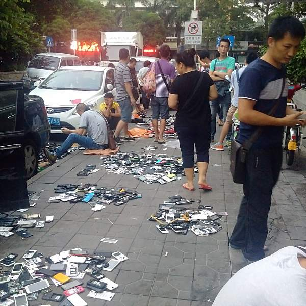 Shenzhen recycled electronics parts market