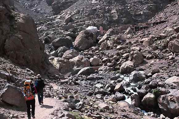 Small village on Atlas Mountain trek