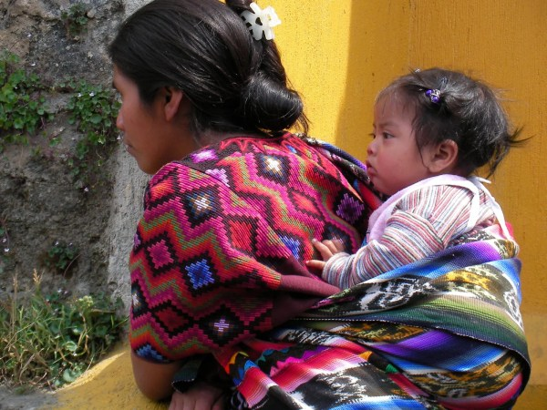 Baby and mother in Guatemala