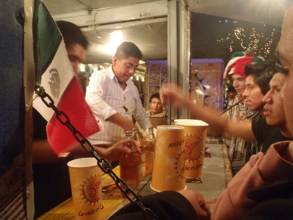 Beer being sold by the liter for Mexican Independence Day
