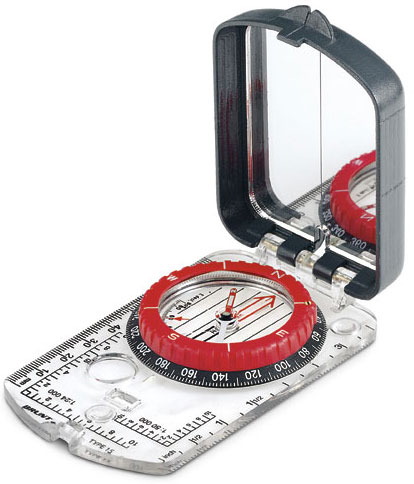 A simple Brunton compass like this is good for travel