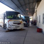 Bus at Mexican bus station