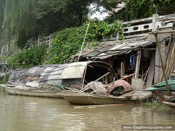 Shacks on a canal in Taizhou
