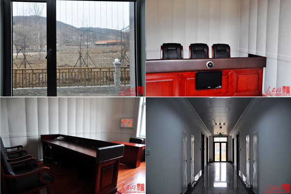 A model shuanggui interrogation center. Photos by Chu Zhaoxian.