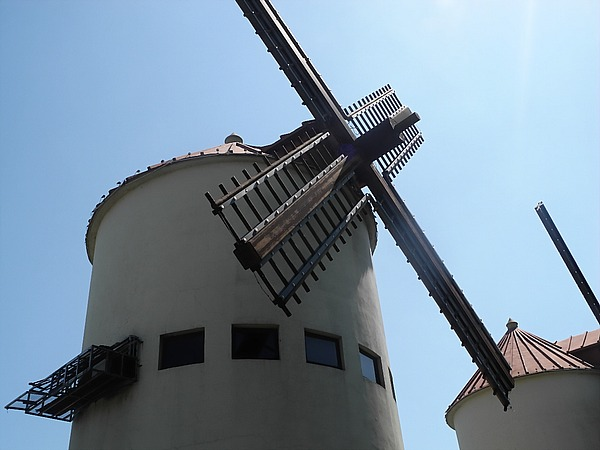 Windmill in Fengcheng, Shanghai's Spanish town.