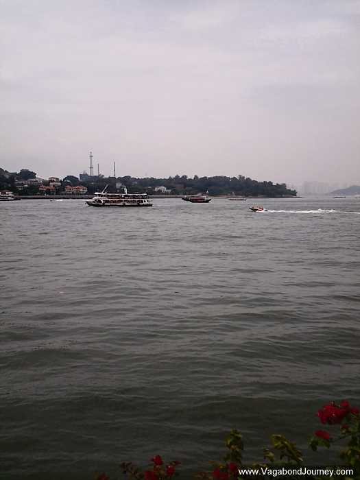 Ferries cruising around Xiamen