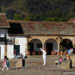 Kids flying kites in Villa de Leyva