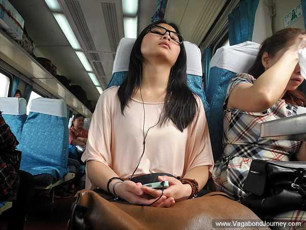 Girl trying to sleep