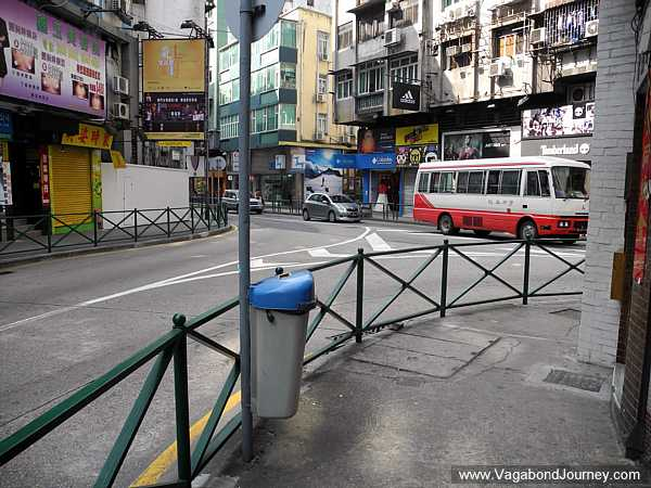Macau sidewalk barriers