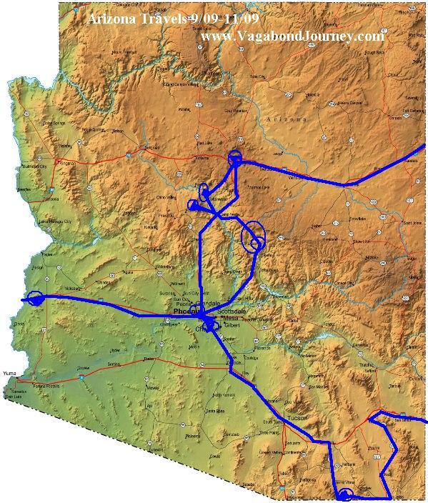 Vagabond Journey travels in Arizona, USA