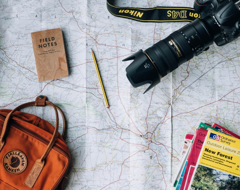 Map and camera