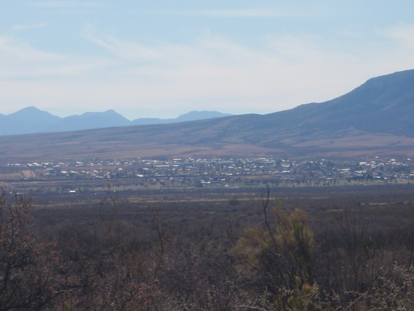 View of Nacos Mexico from USA