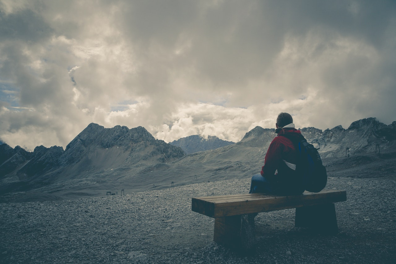 Traveler alone