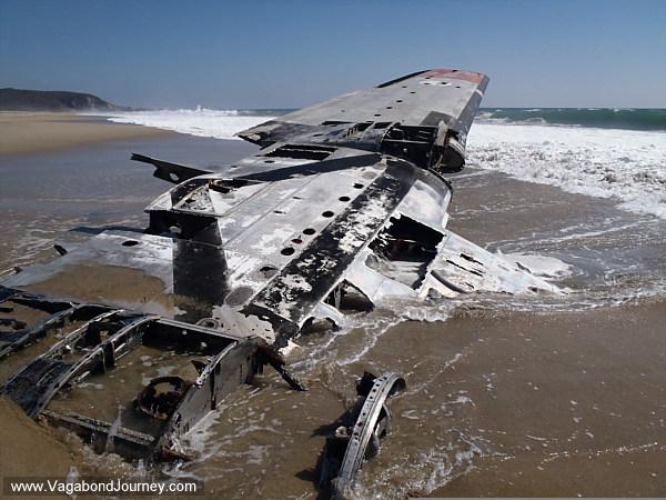 The wreak of a plane in Ventanilla, Mexico