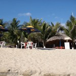 Cheaper restaurant on the beach of Puerto Angel, Mexico