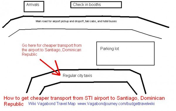 Santiago Dominican Republic Airport taxi stop