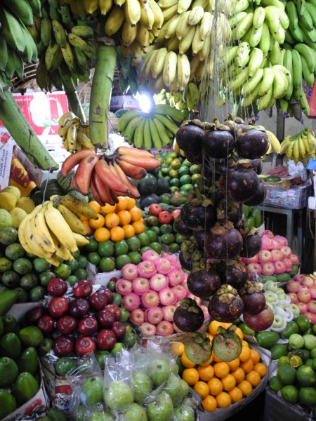 Delicious fresh fruit at market in Kandy