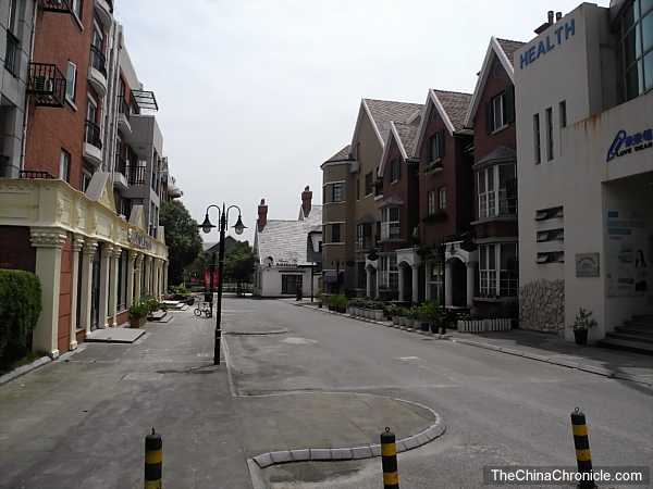The streets of Shanghai's Thames Town.