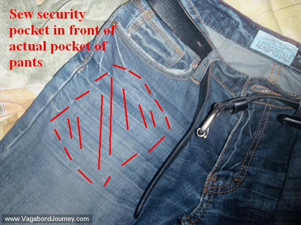 Hidden Pockets To Carry Travel Valuables