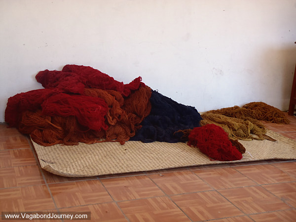 yarn for Oaxaca rug