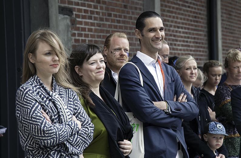 Från vänster: Stefanie Hessler, Birta Gudjonsdottir, Toke Lykkeberg, Jonathan Habib Enqvist. Foto: Ingeborg Thorsland.