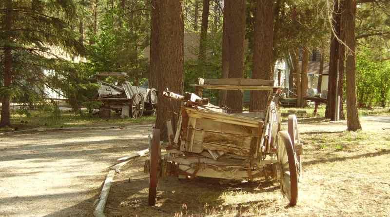 a broken wagon in Big Bear