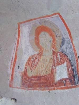 Turkey, Cappadocia, Goreme, Goreme Open Air Museum, Rock Cut Church, fresco