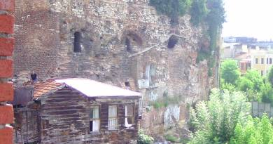 Istanbul, city walls, ancient house