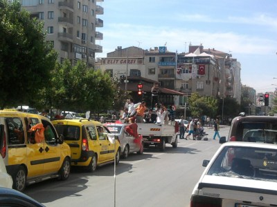 the Street in Manisa Turkey