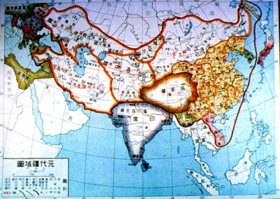genghis khan map