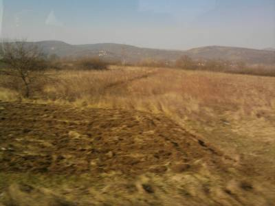 view from the bus to Skopje