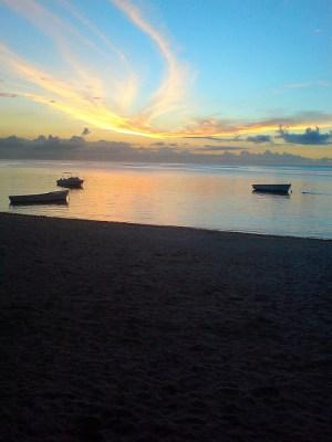 beautiful Mauritus sunset