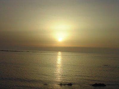Moroccan beach sunset