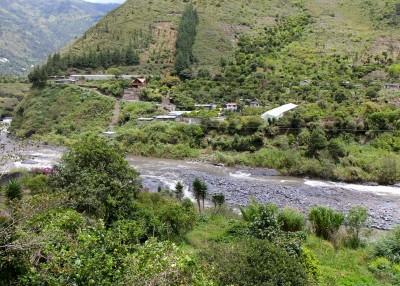 beautiful scenery in Banos, Ecuador