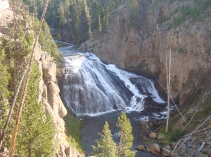 waterfalls in Yellowstone
