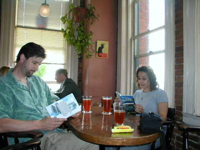 Dave and Lynn reading Rough Living