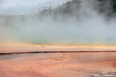 the hot water at Yellowstone