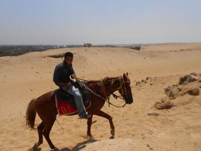 What am I doing here? Visiting the Pyramids of Egypt on Horseback