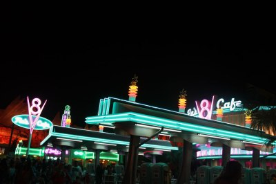 Neon at Disneyland Carsland