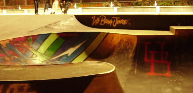 Justice and Skateboards in Brussels, Belgium