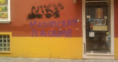 Mediacraty is a Crime - in Greece