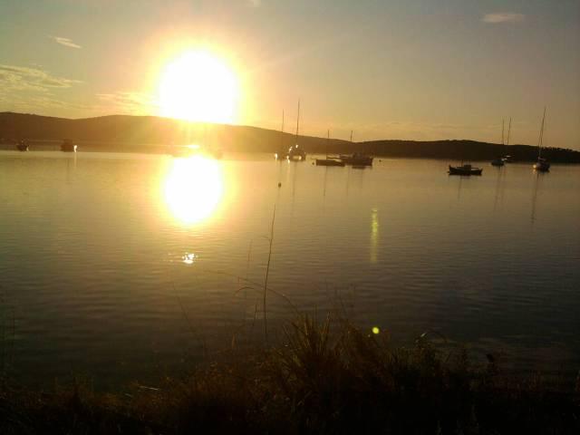Sun on the Water in Maleina