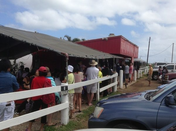 Driving to the North Shore – 2 Hours – Waiting for Kuhuku Shrimp – 2 Hours 45 Minutes