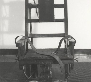 Electric chair used in New York's Sing SIng prison