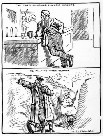 Cartoon by W. K. Haselden in the Daily Mirror, 31 Mar 1915