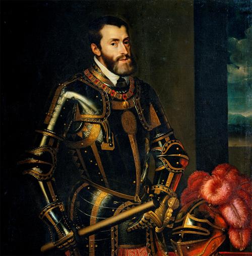 Emperor Charles V By Tiziano Vecellio (english Wiki) [Public domain], via Wikimedia Commons