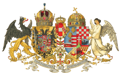 Middle Common Coat of Arms of Austria-Hungary, designed in 1915 Hugo Gerhard Ströhl [Public domain], via Wikimedia Commons
