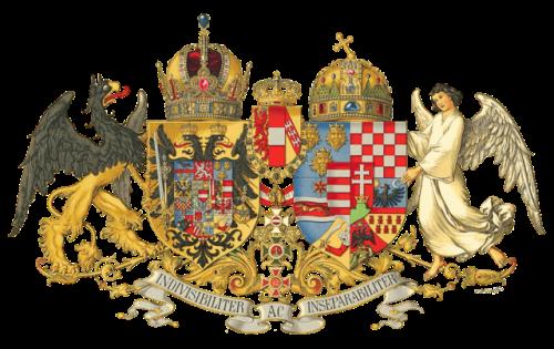 Middle Common Coat of Arms of Austria-Hungary, designed in 1915 Hugo Gerhard Ströhl [Public domain], via Wikimedia Commons