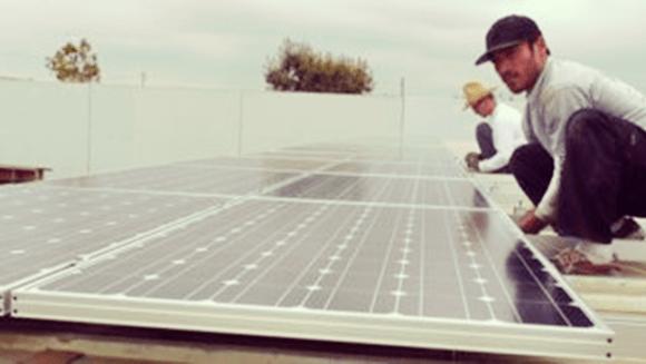 Commercial Solar Orange Install